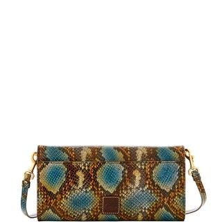 Dooney & Bourke City Python Crossbody Clutch (Introduced by Dooney & Bourke at $198 in Sep 2016) - Blue