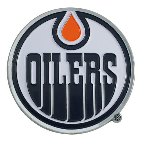 "3"" Blue and Orange NHL Edmonton Oilers 3D Emblem - N/A"