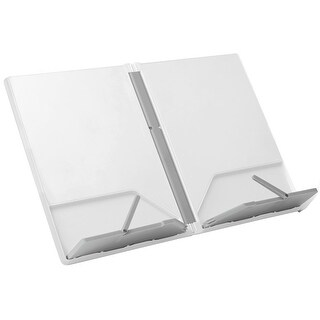 Joseph Joseph Cookbook and Tablet Stand Holder Reading Rest Folds Flat with Page Holder, White
