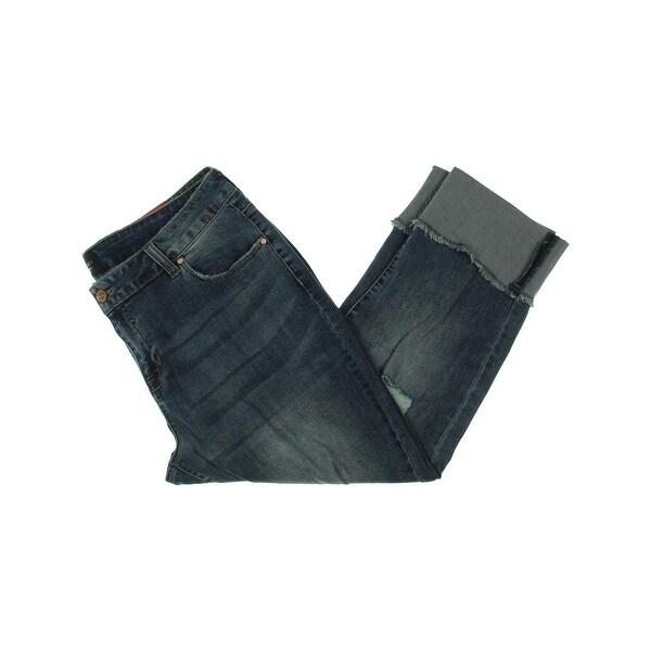 8de44b434e912 Shop Celebrity Pink Womens Plus Straight Leg Jeans Denim Distressed ...