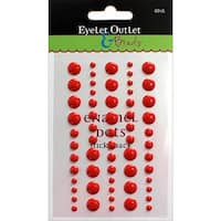 Eyelet Outlet Adhesive-Back Enamel Dot (60 Pack), Red