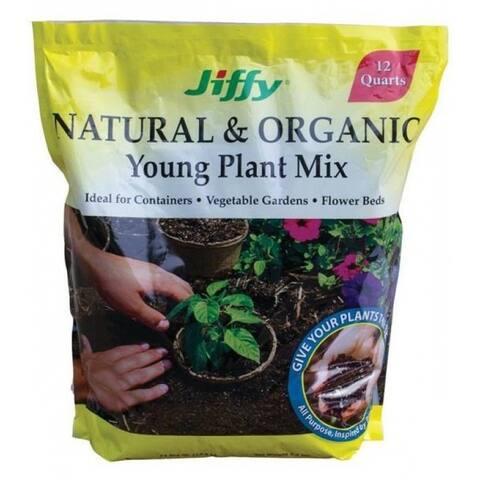 Jiffy G712-48 Natural & Organic Young Plant Mix, 12 Quart