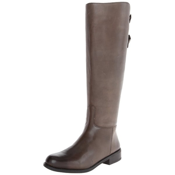Vince Camuto NEW Gray Shoes Size 5.5M Knee-High Leather Boots