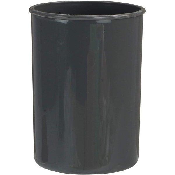 "Reston Lloyd Plastic Holder Utensil Jar, Gray - 4. 75""D x 6. 5""H. Opens flyout."