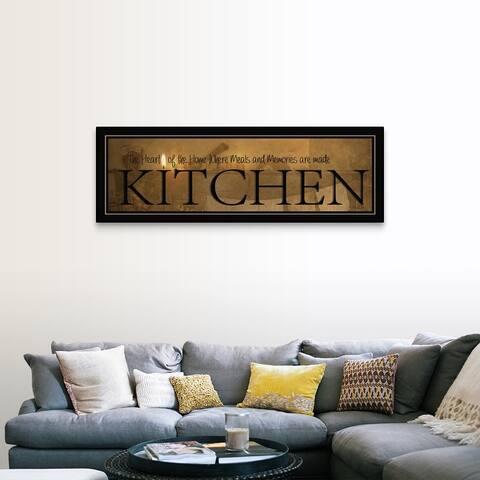 """Kitchen"" Canvas Wall Art"