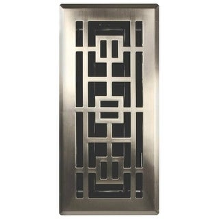 Imperial RG3294 Oriental Design Floor Register, Satin Nickel