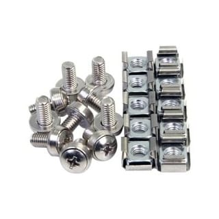 Startech.Com 100 Pkg M6 Mounting Screws And Cage Nuts For Server Rack Cabinet (Cabscrewm62)