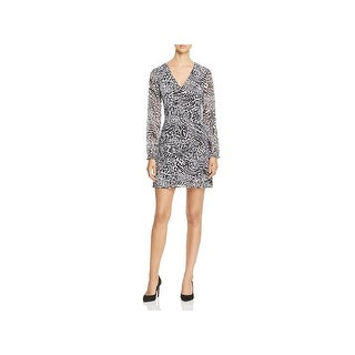 MICHAEL Michael Kors Womens Cocktail Dress Animal Print V-Neck