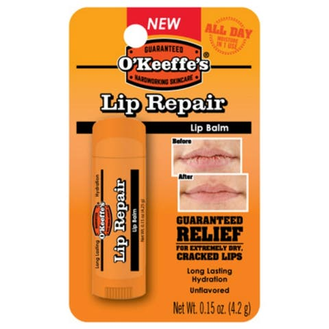 O'Keeffe's K0700108 Lip Repair Original Lip Balm, Unflavored & Unscented