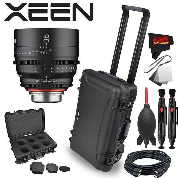 Rokinon Xeen 35mm T1.5 Lens for Canon EF Mount with Rokinon Hardshell Carrying Case - Black