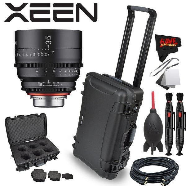 Rokinon Xeen 35mm T1.5 Lens for PL Mount with Rokinon Hardshell Carrying Case - Black