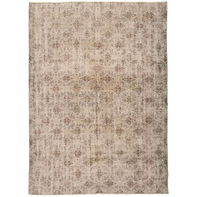 Hand-knotted Color Transition Grey Wool Rug - 9'1 x 6'4