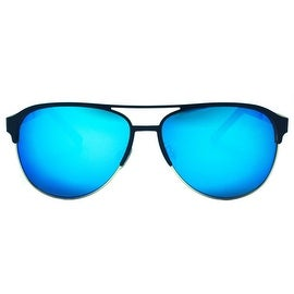 Mens Sunglasses Blue Shades Black Frame Brand New In Style