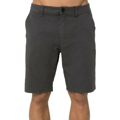 O'Neill Mens Shorts Gray Size 32 Stretch Low-Rise Flat-Front Chinos