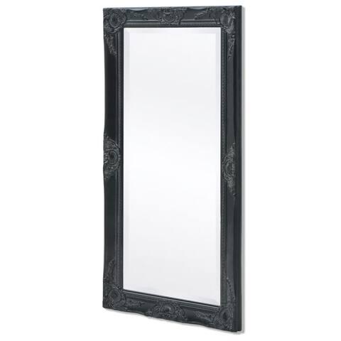 "vidaXL Wall Mirror Baroque Style 39.4""x19.7"" Black"