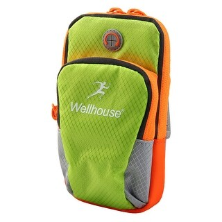 Wellhouse Authorized Phone Holder Adjustable Running Sports Arm Bag Green L