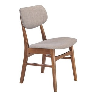 Zuo Modern Midtown Dining Chair Midtown Rubberwood Dining Chair (Package of 2)