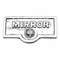 Switch Plate Tags MIRROR Name Signs Labels Chrome Brass