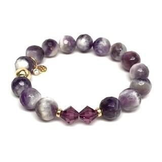 """Purple Amethyst Paris 7"""" Bracelet"""