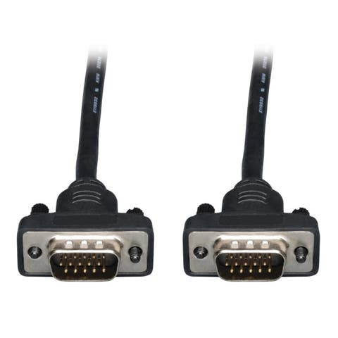 Tripp Lite P502-025-SM Low-Profile VGA Coax Monitor Cable High Resolution Cable with RGB Coax (HD15 M/M) 25 Feet
