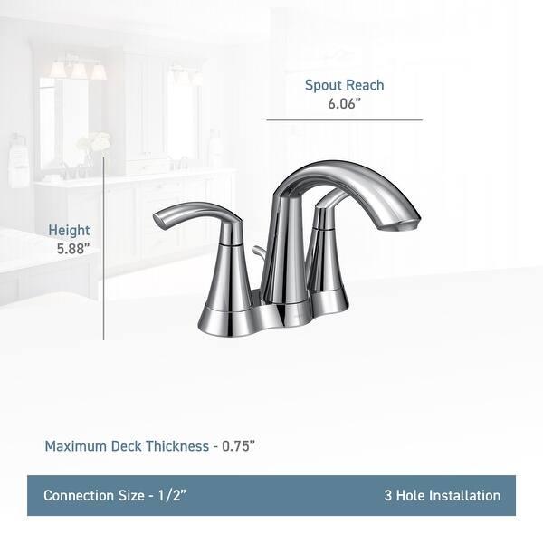Moen 6172 Glyde 1 2 Gpm Centerset Bathroom Faucet With Pop Up Drain Overstock 16322201