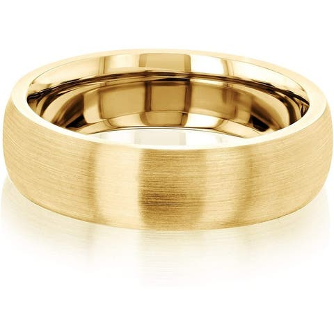 Annello by Kobelli 6MM Domed Satin Matte Gold