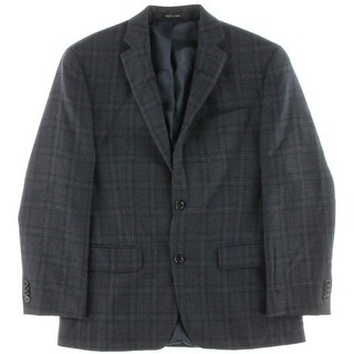 MICHAEL Michael Kors Mens Wool Plaid Two-Button Blazer - 38s