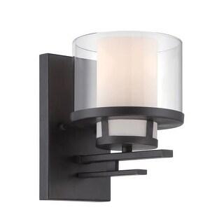 Designers Fountain 86101 Fusion 1 Light Bathroom Sconce