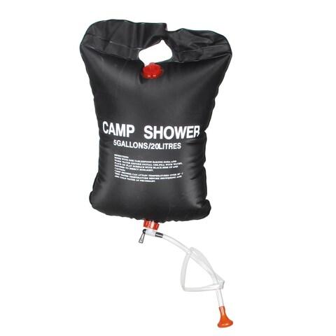 Unique Bargains Black 20L 5 Gallons Foldable Portable Solar Hiking Shower Pouch