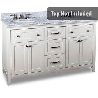 Jeffrey Alexander VAN105D-60 59-11/16 Inch Double Free Standing Hardwood Vanity Cabinet Only from the Chatham Shaker Collection