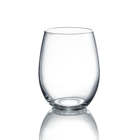 Luminarc Cachet 15 Ounce Stemless Wine Glass Party Pack, Set of 12