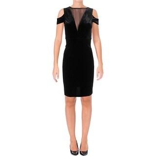 Nightway Womens Special Occasion Dress Velvet Cold Shoudler