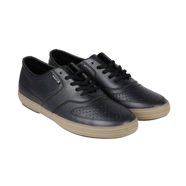 HUF Liberty Mens Black Leather Lace Up Sneakers Shoes