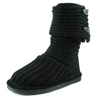 Bearpaw Knit Tall Round Toe Canvas Winter Boot