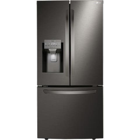 LG LRFXS2503D 25 cu. ft. Smart Wi-Fi Enabled French Door Refrigerator - Black Stainless Steel