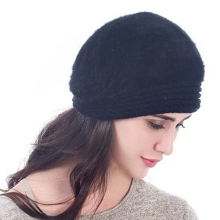 Mad Style Black Furberry Beret
