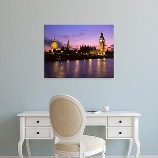 Easy Art Prints Howie Garber's 'River Thames At Dusk' Premium Canvas Art