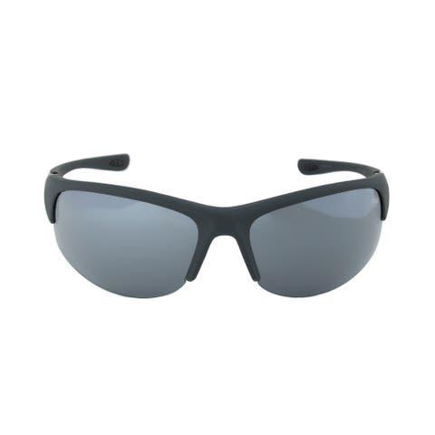 Fila FAC1033 035 Matte Grey Half Framed Sunglasses with Grey Tinted Lenses