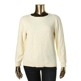 Karen Scott Womens Knit Cotton Pullover Sweater