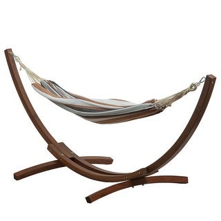 Link to BELLEZE Hammock With 10 ft Wooden Arc Patio Hammock Stand Similar Items in Hammocks & Swings