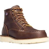 """Danner Men's Bull Run Moc Toe 6"""" Cristy Steel Toe Boot Brown Full Grain Leather"""