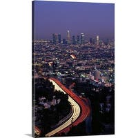 Premium Thick-Wrap Canvas entitled Hollywood Freeway Los Angeles CA