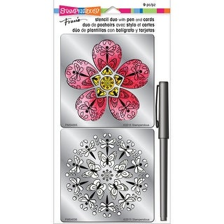Stampendous Stencil Duo W/Pen & Cards-Blossom