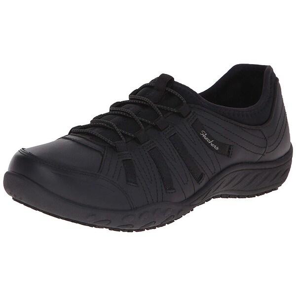 52d63378479 Shop Skechers Work Women s Bungee Slip Resistant Lace-Up Sneaker ...