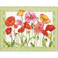 """14""""X11"""" 14 Count - Poppy Pattern Counted Cross Stitch Kit"""