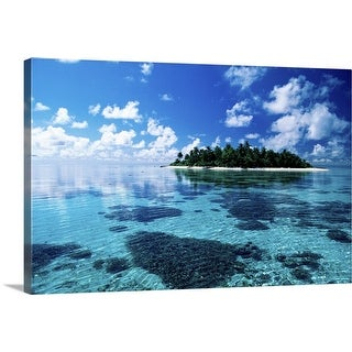 """Small island in the sea"" Canvas Wall Art"