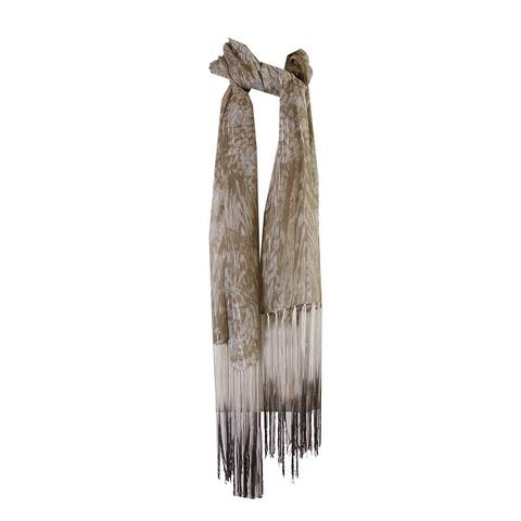 Collection Xiix Vintage Cream Abstract-Print Fringe Scarf OS