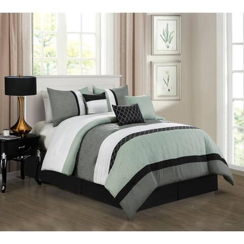 Esca Amy Fabric Polyester 7PC Comforter Set