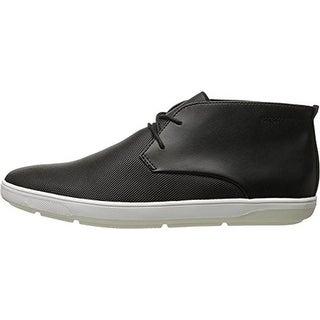 Calvin Klein Mens Wilder Leather Perforated Chukka Boots - 8 medium (d)