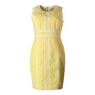 Calvin Klein Womens Petites Woven Sleeveless Casual Dress - 8P